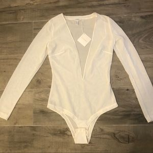 NWT La Perla lingerie plunging neckline bodysuit